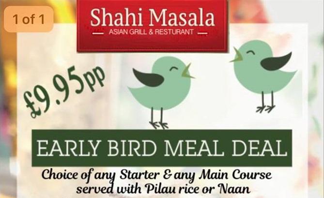 Early Bird Meal Deal