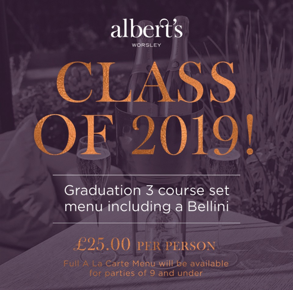 Graduation set 3 course menu